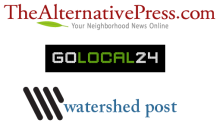 Local News Logos - TheAlernativePress.com; GoLocal24; Watershed Post