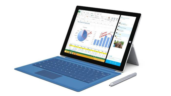Surface Pro 3 has a 12-inch ClearType Full HD display, 4th-generation Intel(R) Core(TM) processor and up to 8 GB of RAM. With up to nine hours of Web-browsing battery life, Surface Pro 3 has all the power, performance and mobility of a laptop in an incredibly lightweight, versatile form. (PRNewsFoto/Microsoft Corp.)