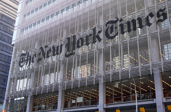 Image of The New York Times building via Samchills/Flicker; used under Creative Commons License 2.0