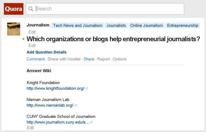 Quora: Which blogs help journalists