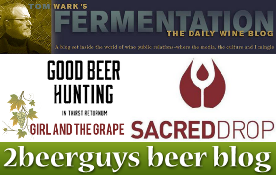 Beer, Wine and Spirits Blogs We Love