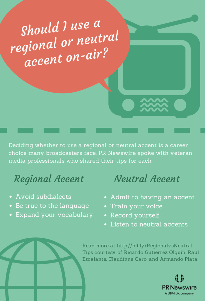 Infographic: Tips for broadcast journalists on maintaining regional and neutral accents