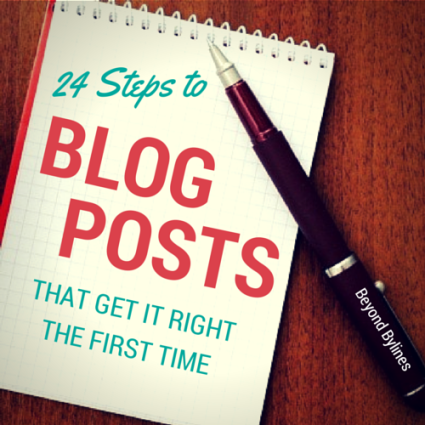 Blog Post Checklist - Beyond Bylines