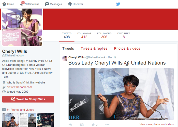 Cheryl Wills NY1 News Twitter