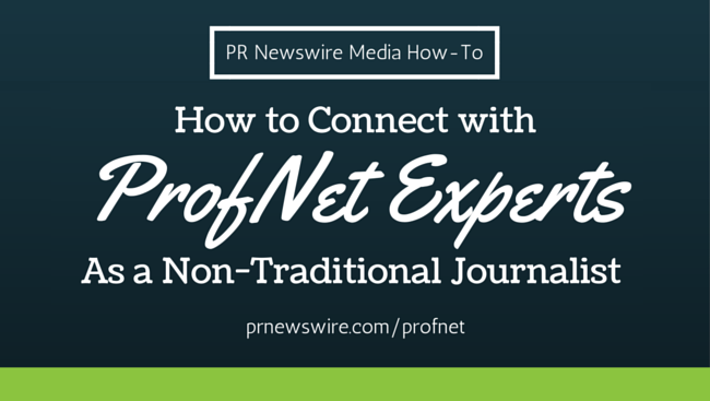 PRN Media How-To ProfNet Experts