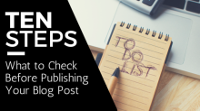 Publishing Blog Posts Checklist