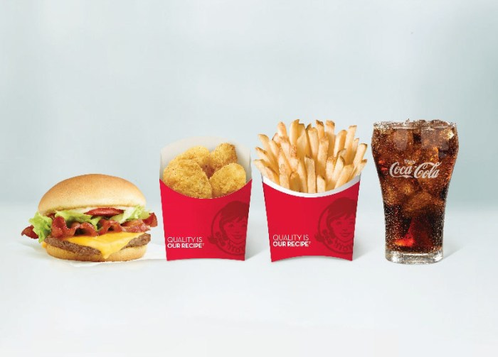 Get more for four with Wendy's new 4 for $4 Meal!  A lunch-time game changer, Wendy's new 4 for $4 Meal includes a Jr. Bacon Cheeseburger, four all white-meat chicken nuggets, small fries and a drink for just $4. With the 4 for $4 Meal, customers can now get a big deal on a delicious meal. (PRNewsFoto/The Wendy's Company)