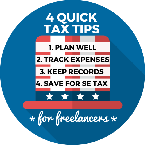 tax tips for freelancers infographic