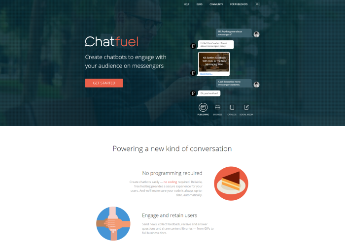 Chatfuel – chatbots made easy