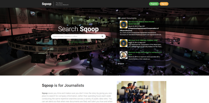Sqoop for journalists