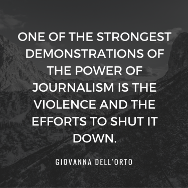 quote on journalism dangers