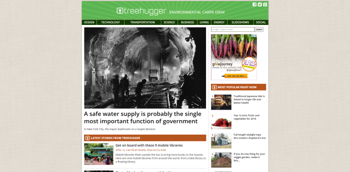 TreeHugger Your source for green design living news commentary and advice