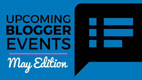 Blogger Events Calendar for May