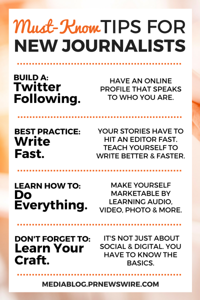tips for new journalists