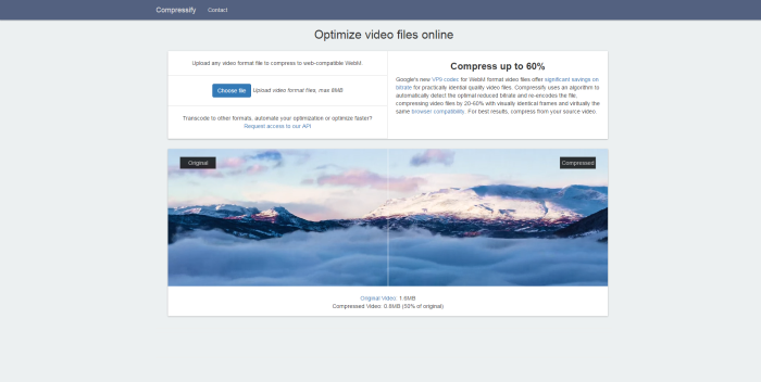 compressify website compress videos