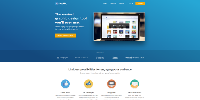 snappa easy graphic design tool