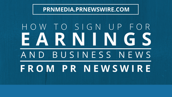 PR Newswire for Journalists Earnings News