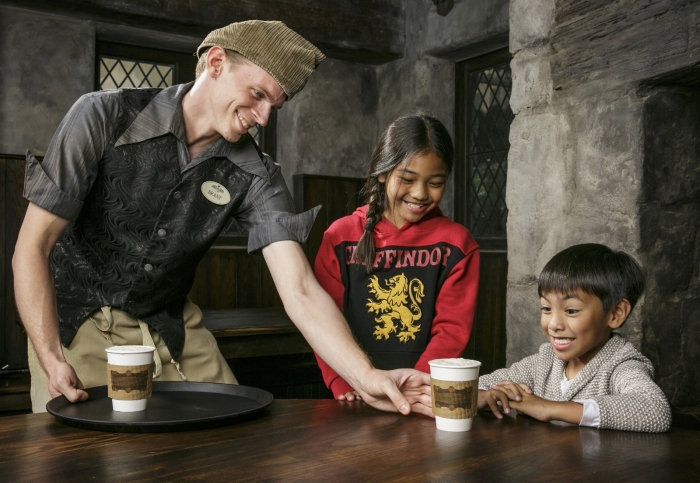 "Butterbeer served at ""The Wizarding World of Harry Potter"""