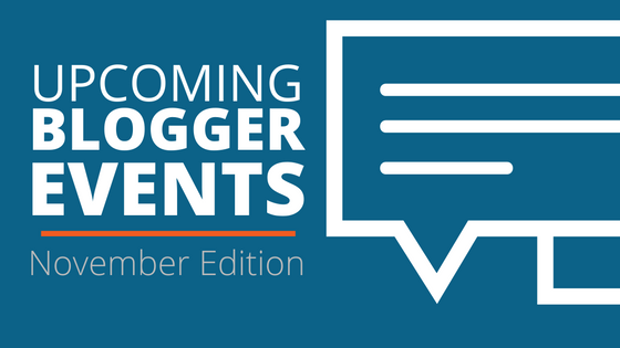 November blogger events