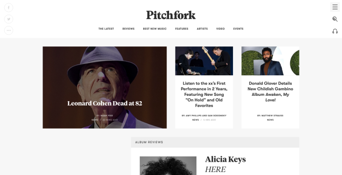 pitchfork, the most trusted source in music