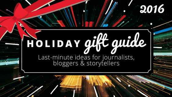 holiday gift guide for journalists, bloggers
