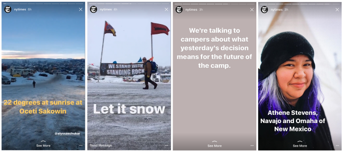 The New York Times goes to Standing Rock and shares interviews with campers on-site.