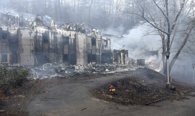 Source: PRNewsFoto/Tennessee wildfires