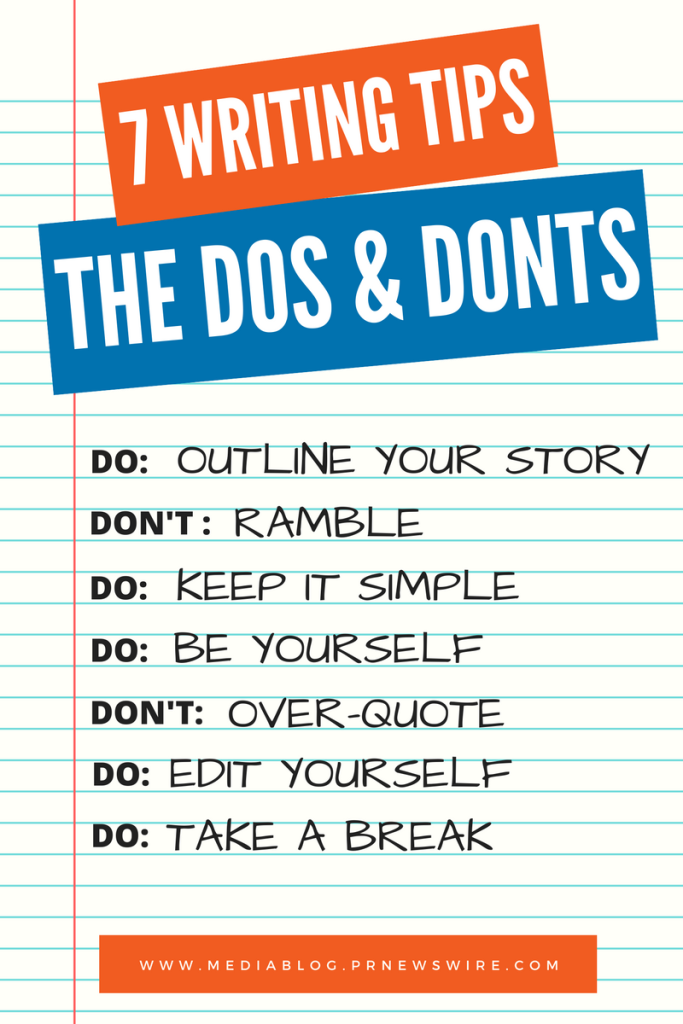 writing dos and donts
