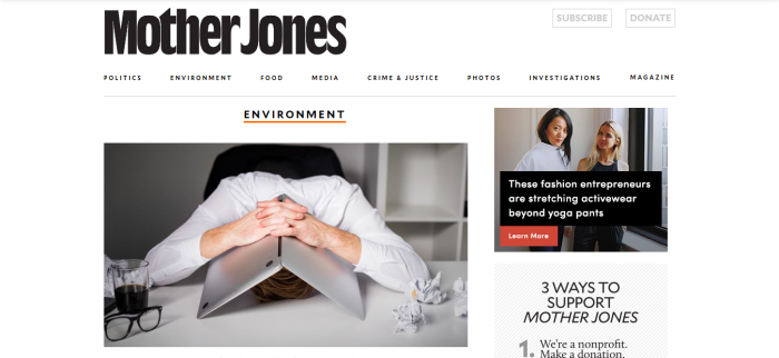 Mother Jones environment