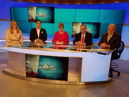 "Benjamin DeYurre On ""Enfoque Político"" (Political Focus) with Marilys Llanos and team, Telemundo"