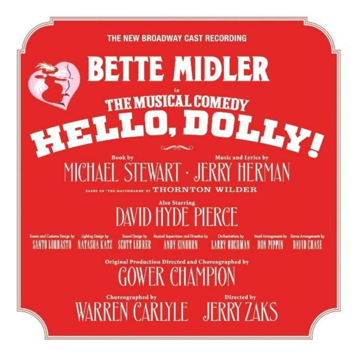 The New Broadway Cast Recording of Hello, Dolly! is available now.