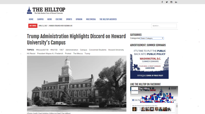 Trump Administration Highlights Discord on Howard University_s Campus – The Hilltop