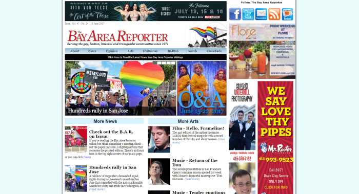 Bay Area Reporter LGBT News Site