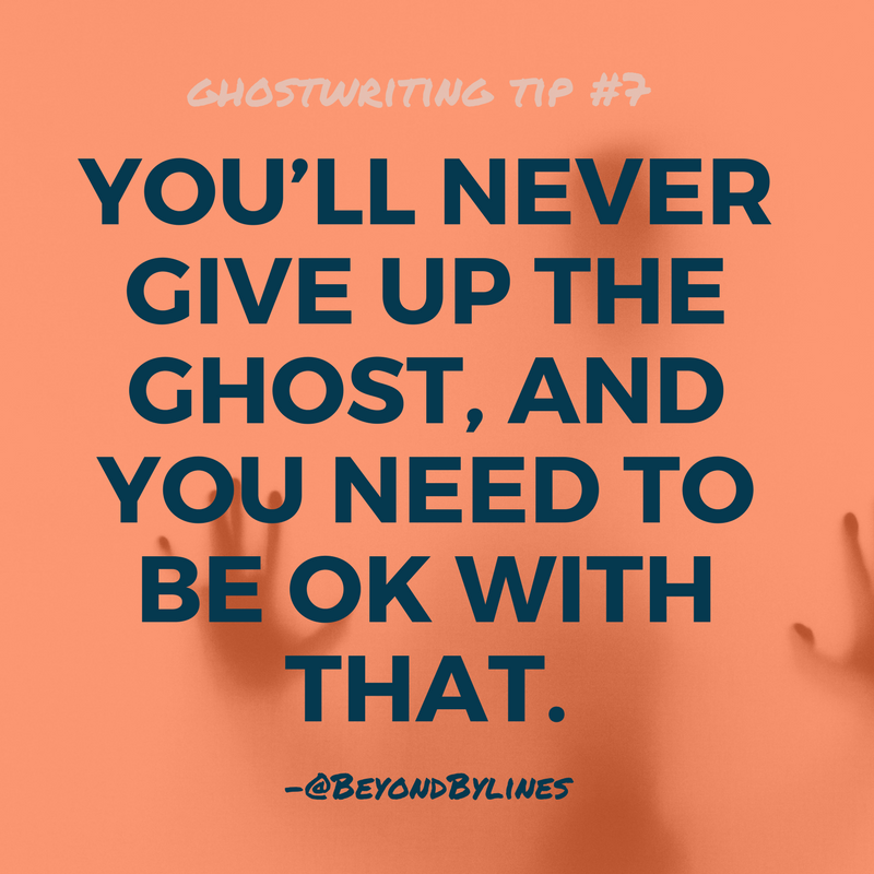 ghostwriting tips