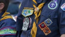 Closeup of Boy Scouts uniforms