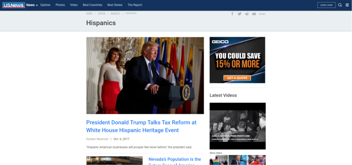US News & World Report's Hispanics