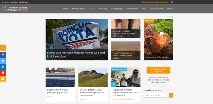 Climate Thomson Reuters Foundation News