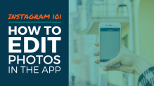 How to Edit Instagram photos inside the app
