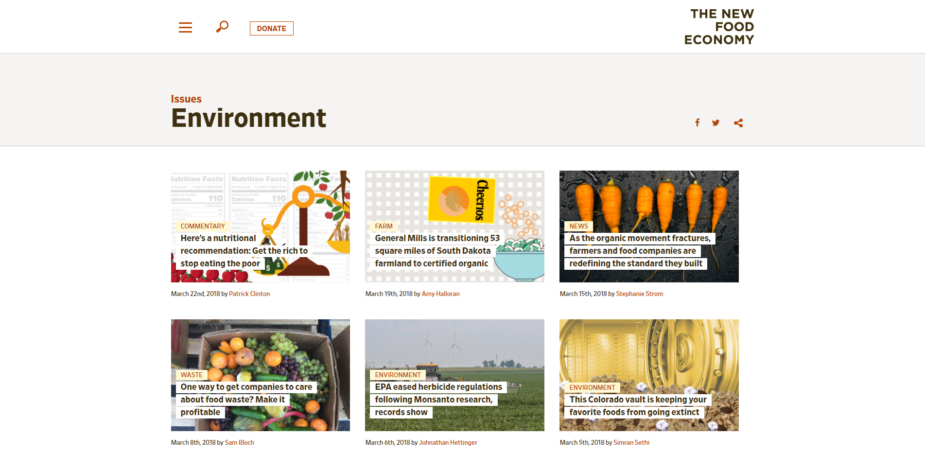 Environment Archives New Food Economy