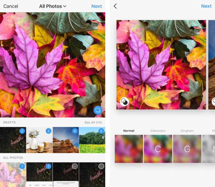 Instagram Multiple Photos Feature