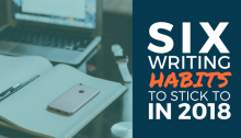 Writing habits to stick to