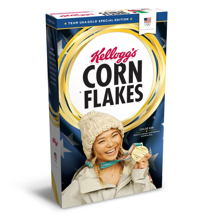 Chloe Kim on Kellogg's Corn Flakes Box