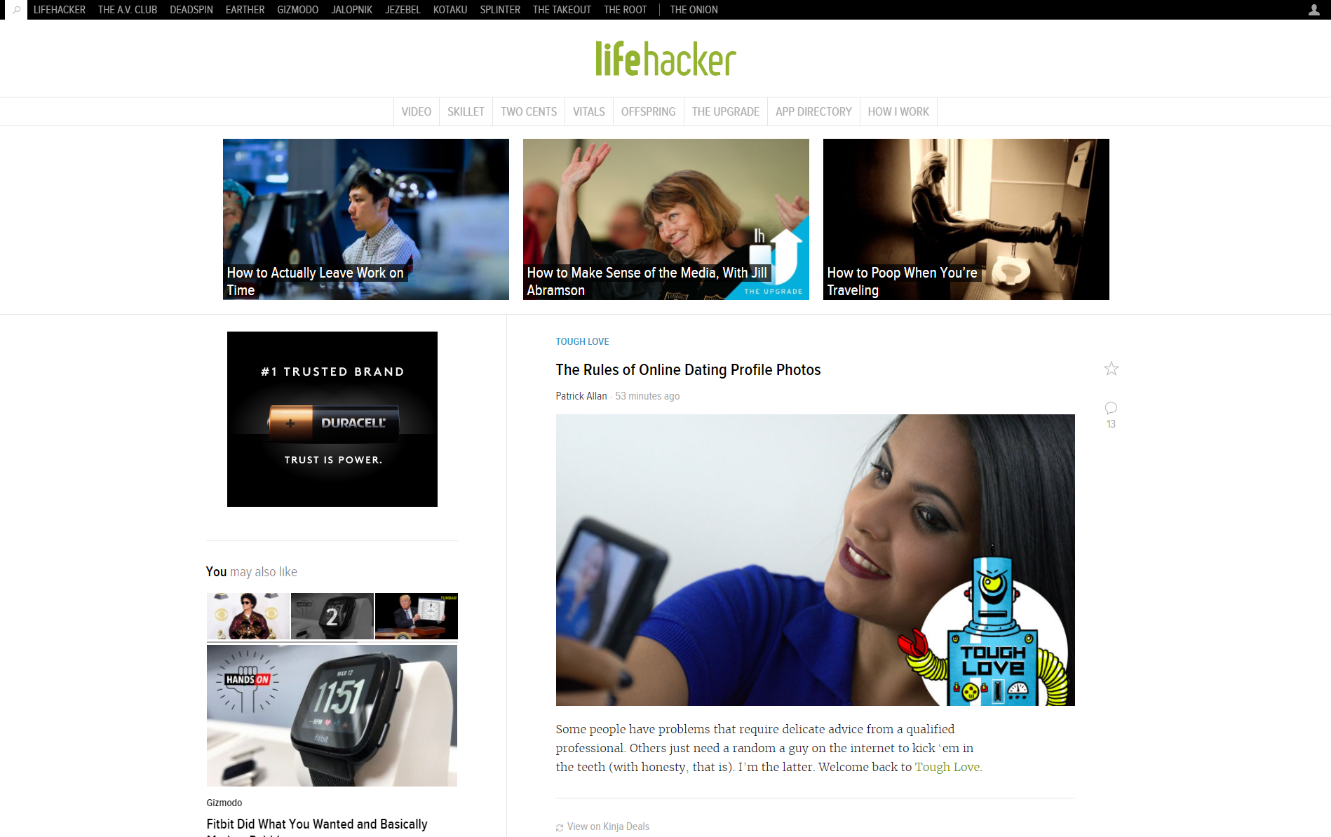 Lifehacker online dating profile