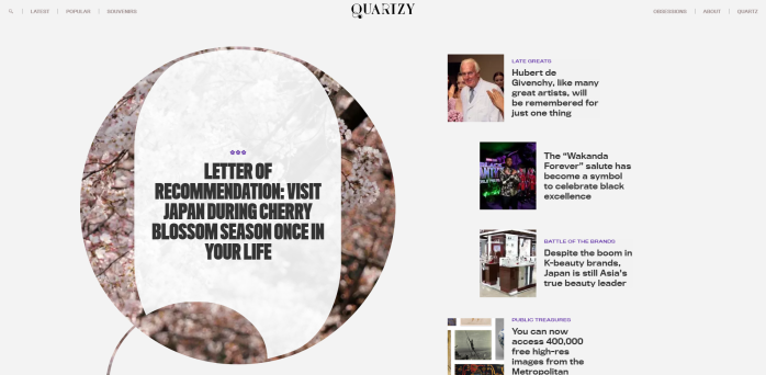 Quartzy | Lifestyle culture and living well in the new global economy