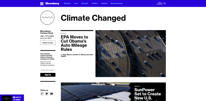 Climate Changed Bloomberg