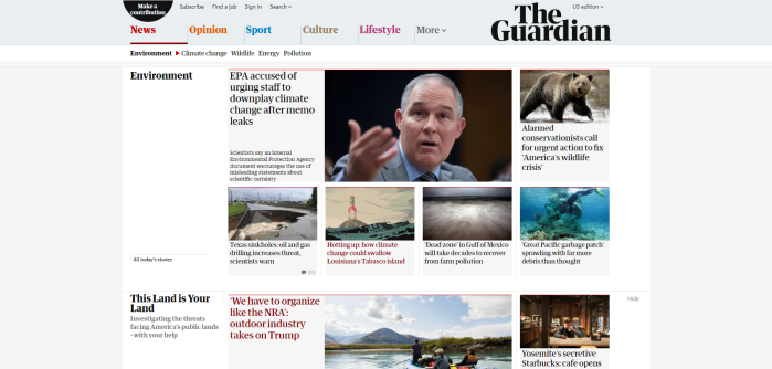 Environmental news opinion and analysis from Guardian US The Guardian
