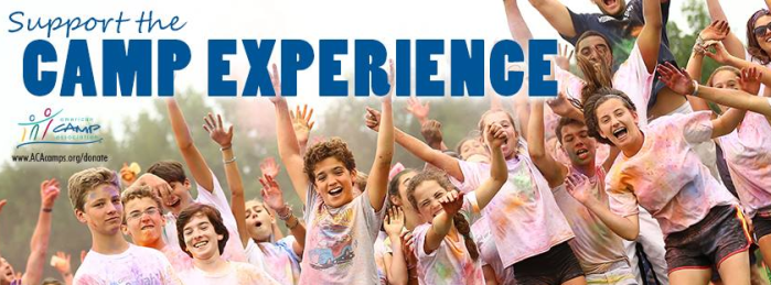 ACA Camps: Support the Camp Experience header with group of children cheering
