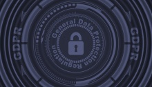 A lock icon surrounded by the General Data Protection Regulation