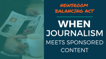 Newsroom Balancing Act - When Journalism Meets Sponsored Content