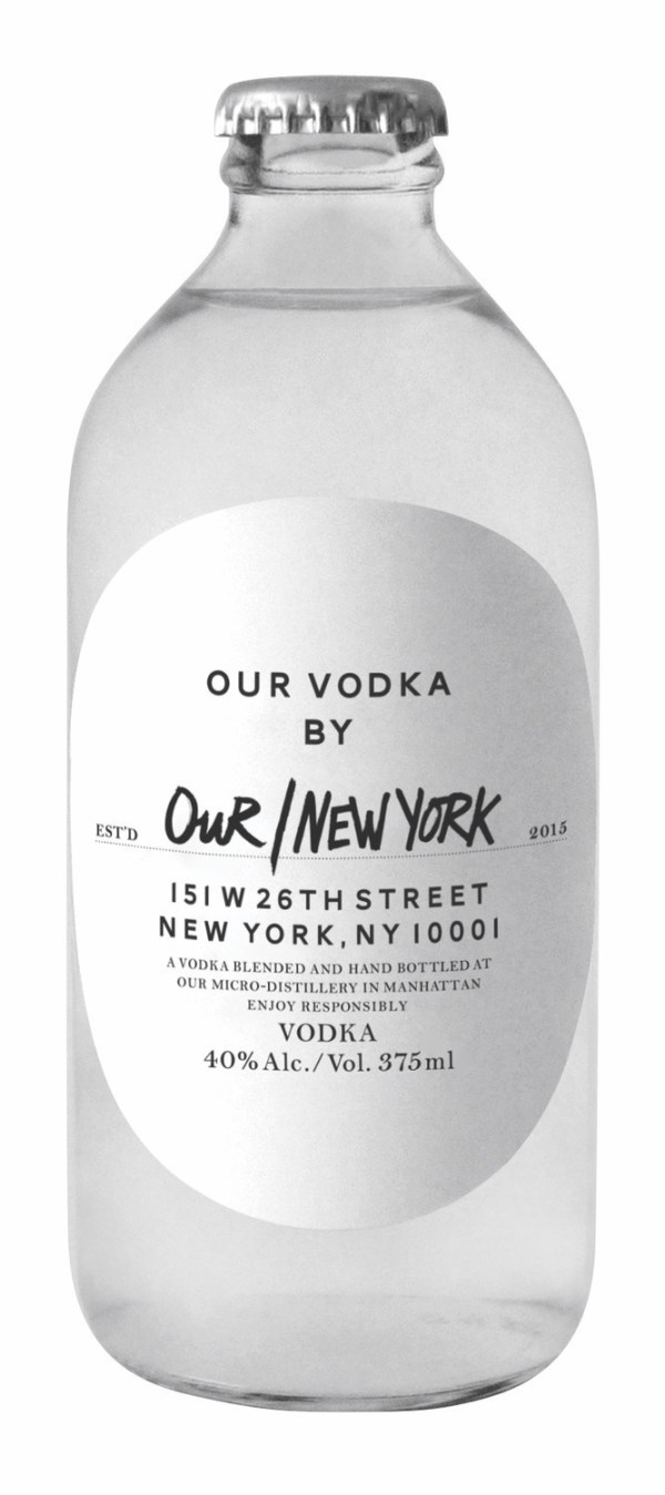 Bottle of OUR/VODKA by OUR/NEW YORK
